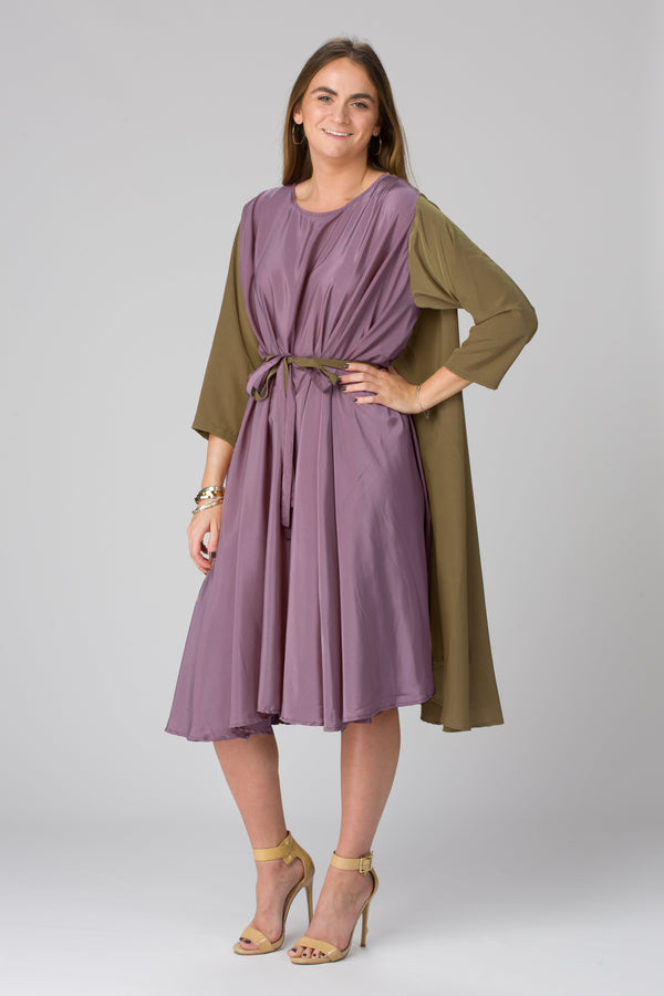 Shunka - Green Olive/Purple Crepe LE