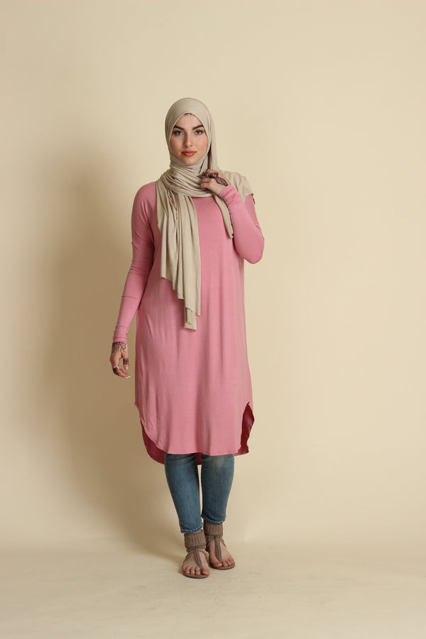 Rose Waterfall Tunic
