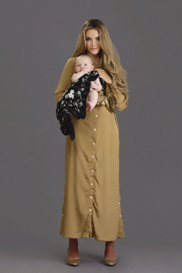 Hiro - Gold Crepe Dress