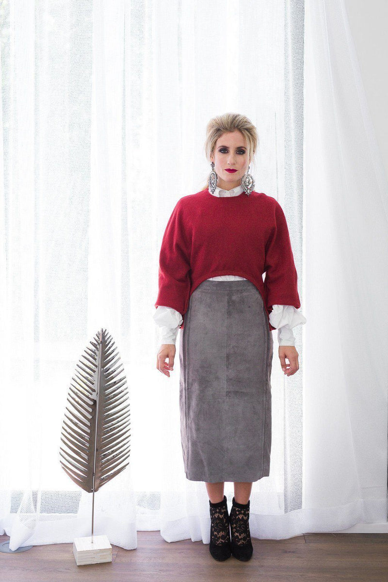 Shira Skirt - Grey Seude