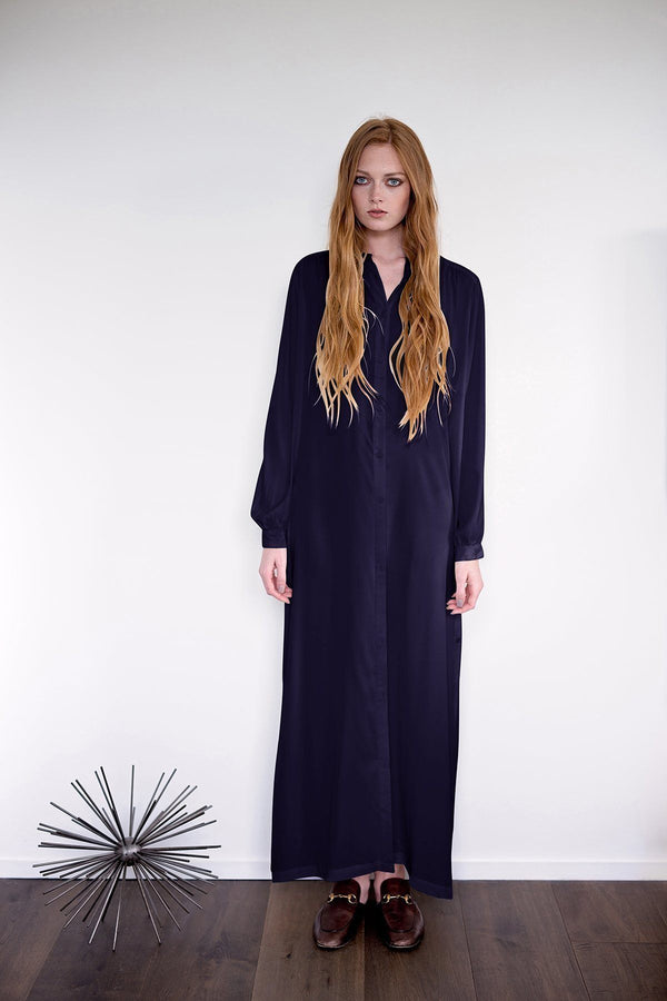 Hiro - Navy Crepe Dress