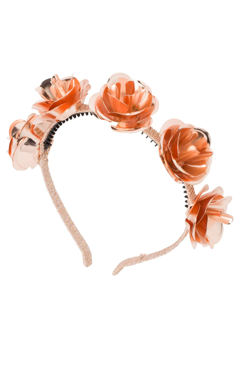 Lonely Roses Headband - Rose Gold