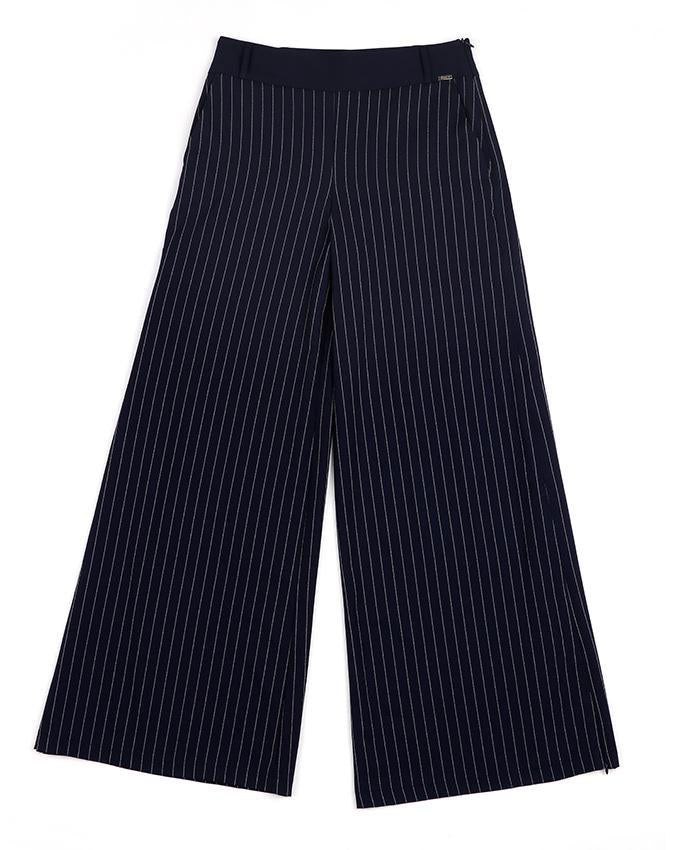 Navy Blue Striped Palazzo