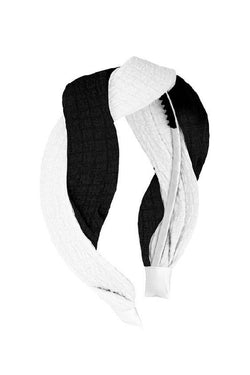 Octagon Headband - Black/White