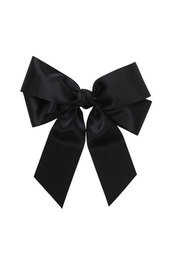 Oversized Bow Pony/Clip - Black