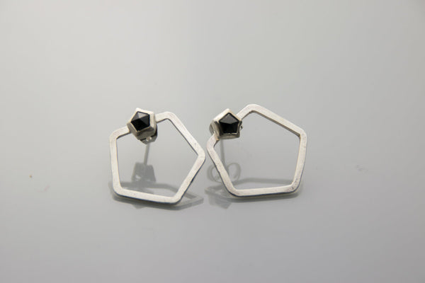 Pentagon Ear Jacket Studs