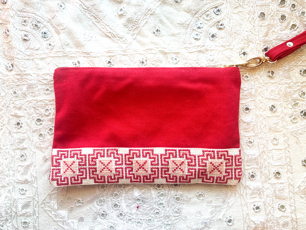 Accessories Holiday Gift Box - Red Tatreez Pouch