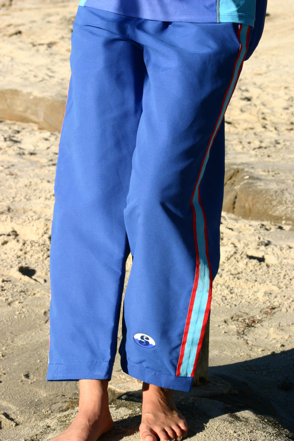 Resort Pants - Ocean Blue - 25 inch short length