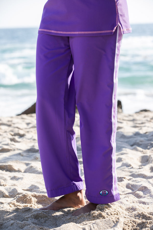 Resort Pants - Purple - 25 inch short length