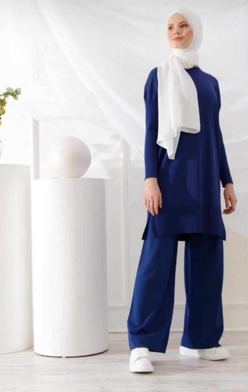 Royal Blue Tunic and Pant Set