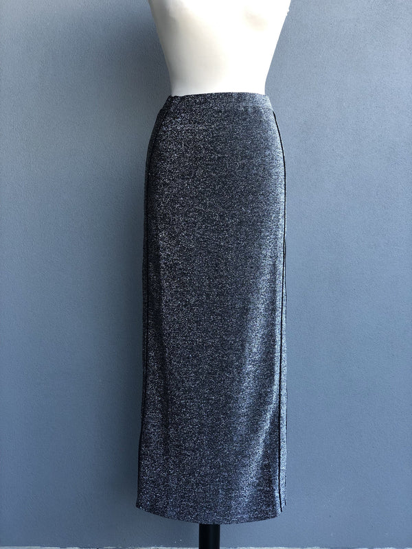 Metallic Glitter Pencil Skirt