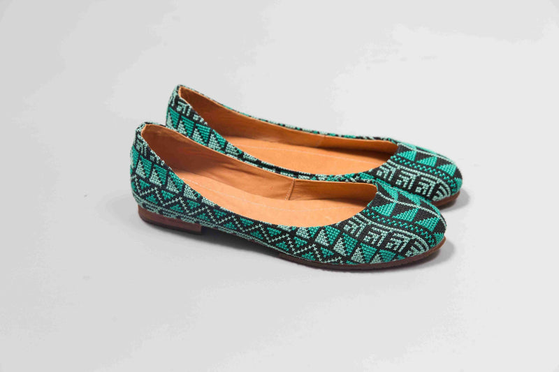 The Tatreez Flat in Teal