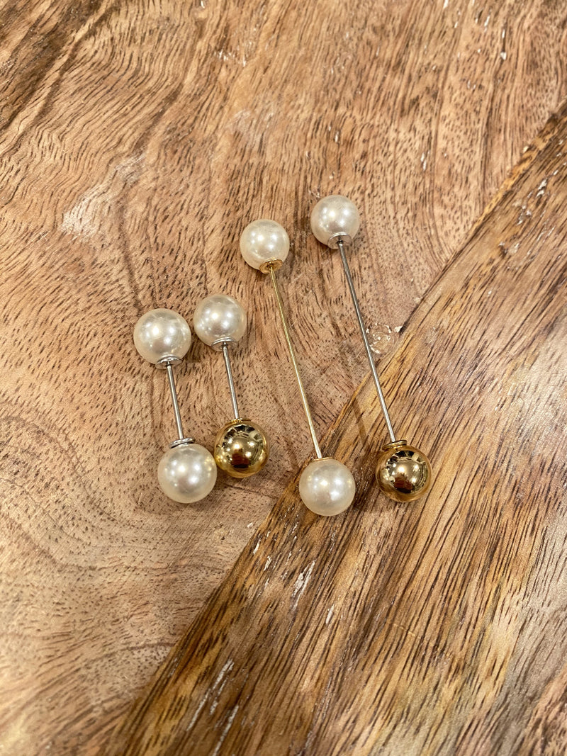 Metallic & Pearl Barbell Pin Set