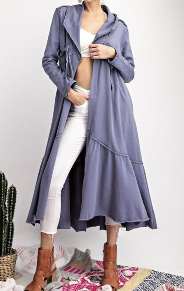Maxi Athleisure Sweatshirt Cardi - two colors!