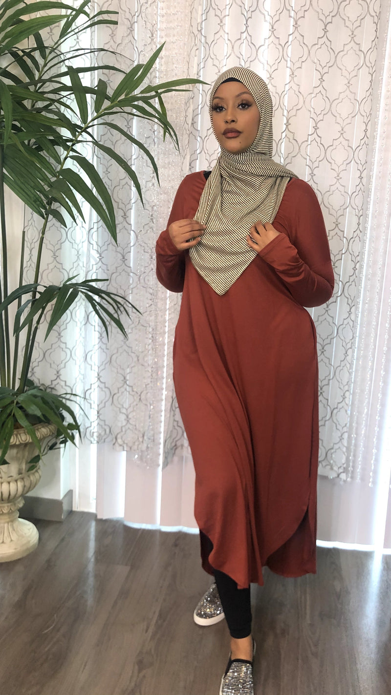 The Perfect Tunic Dress - Burgundy