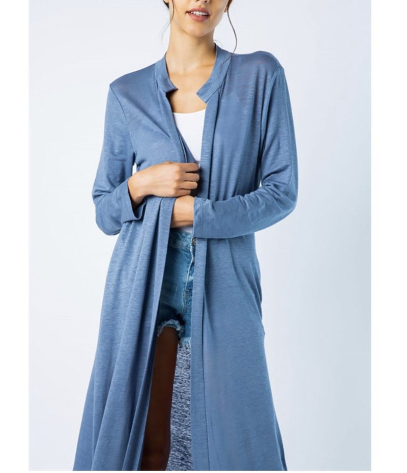 Long Open Cardigan - two colors!