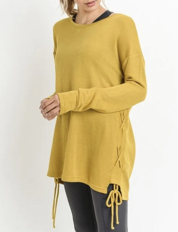 Mustard Sweater Tunic Top