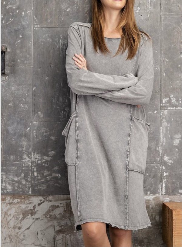 Mineral Washed Terry Knit Tunic