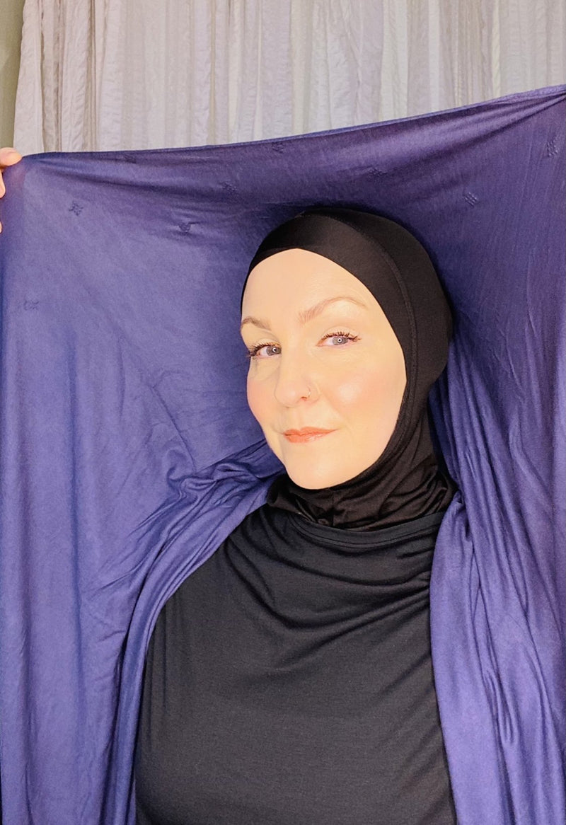 FREE with Purchase! Premium Jersey Hijab: Black Diamonds - 6 colors!
