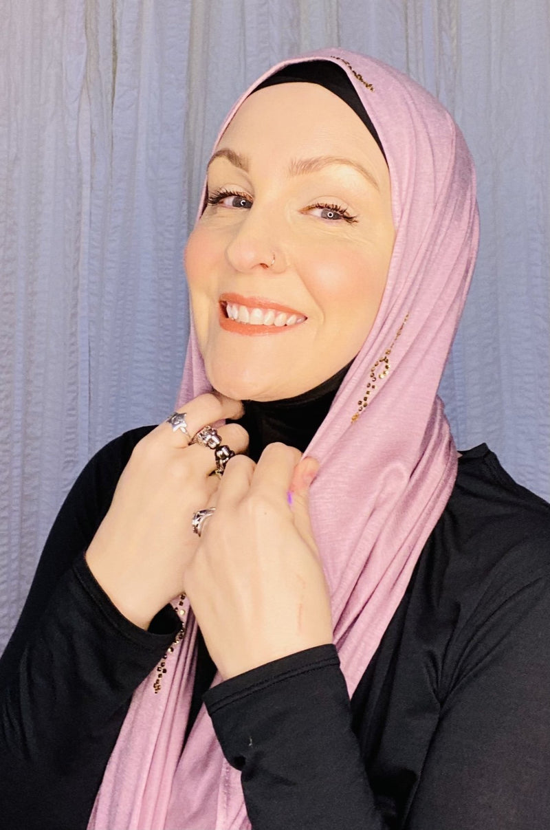 "FREE with Purchase! Premium Jersey Hijab: ""I'm Worth It"" - 6 colors!"