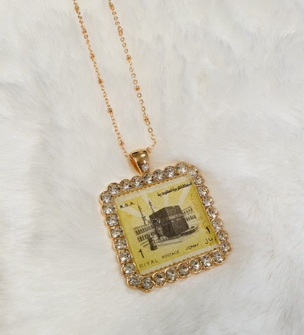 Vintage Necklace - The Kaaba in Rose Gold