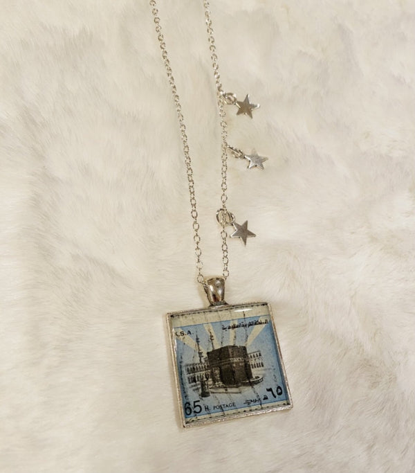 Vintage Necklace - The Kaaba in Silver