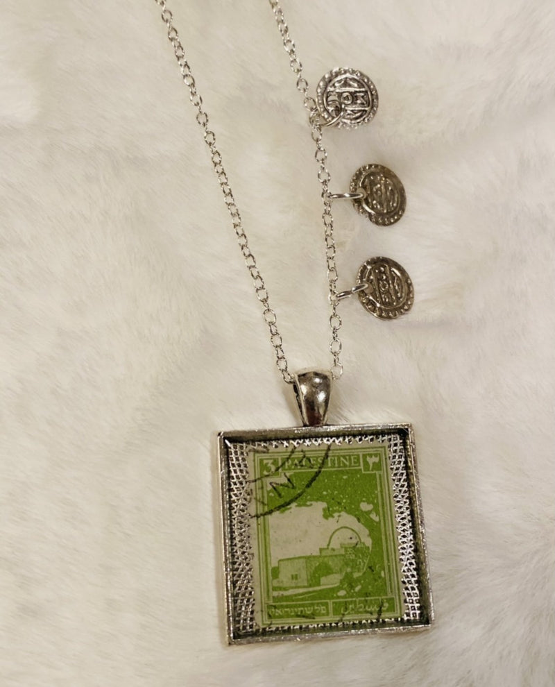 Vintage Necklace - Palestine in Green