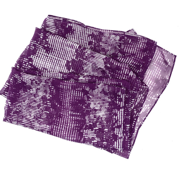 Abstract Purple | Silk Chiffon