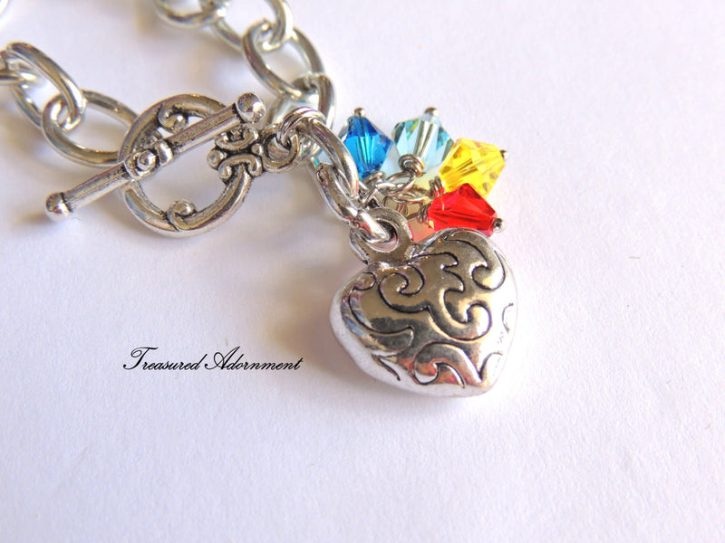 Autism Awareness Swarovski Crystal  Bracelet