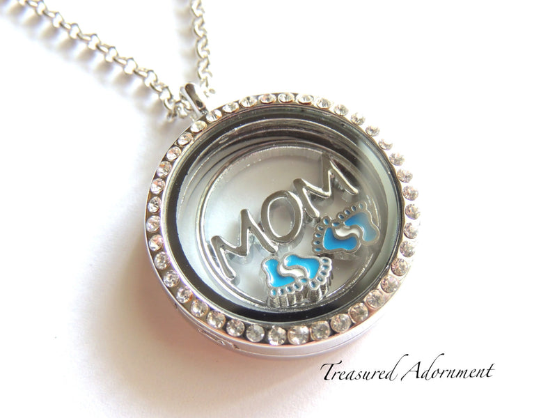 Baby Boy Floating Locket Necklace