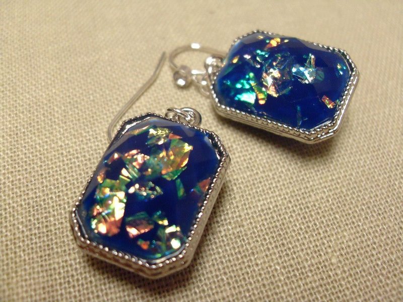 Opal in Deep Blue Sea Earrings