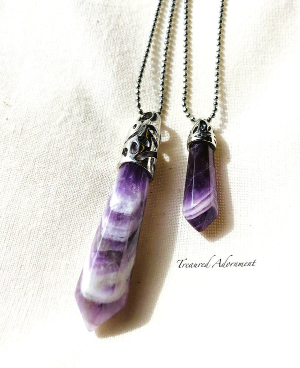 Amethyst Pendant, Mommy and Me Set