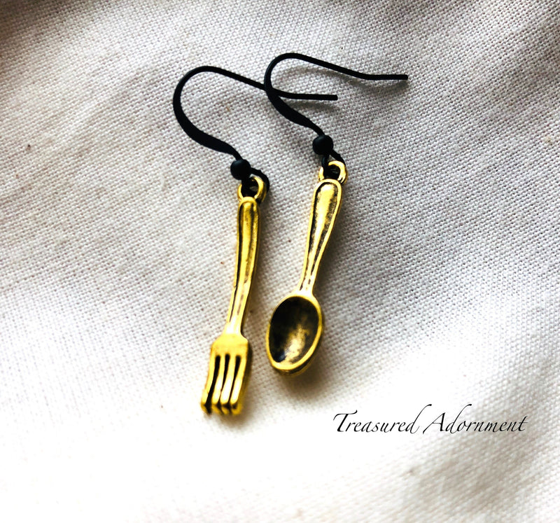 Fork and Spoon Miniature Earrings