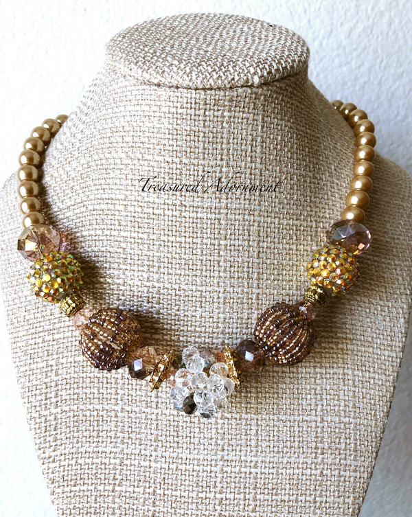 Multicolored Beads Statement Necklace