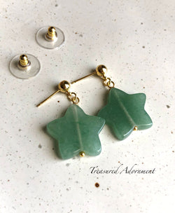 Green Aventurine Star Earrings
