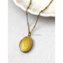 Vintage Style Oval Locket Necklace