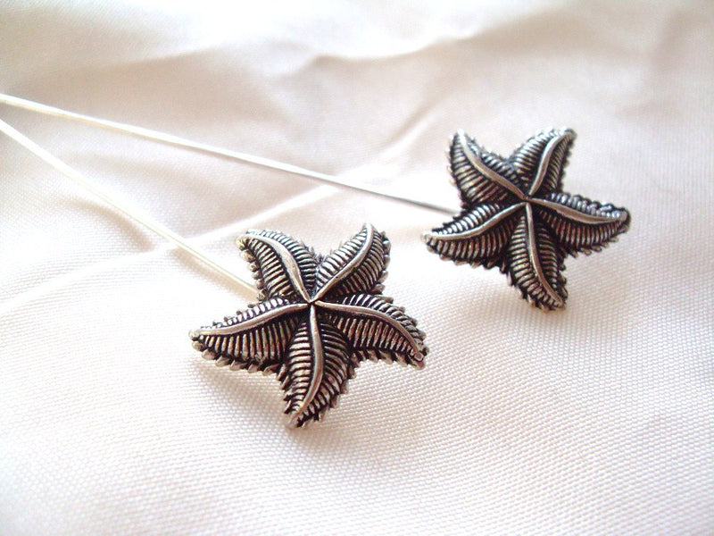 Antiqued Starfish Scarf Pin