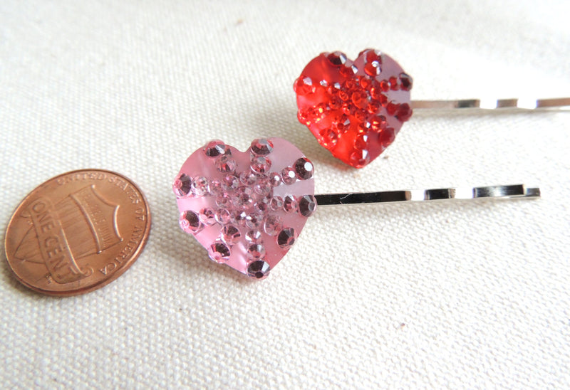 Blue Heart Bobby pins