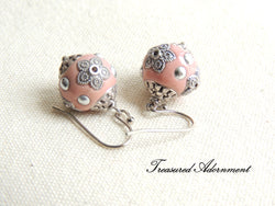 Pink Kashmiri Beads Earrings