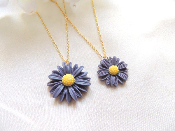Daisy Flower Mommy and Me Necklace Set