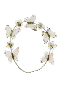 Butterfly Hair Wrap Wreath - White