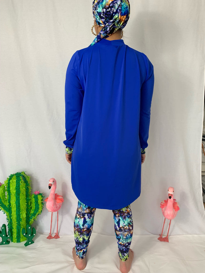 Royal snake print burkini