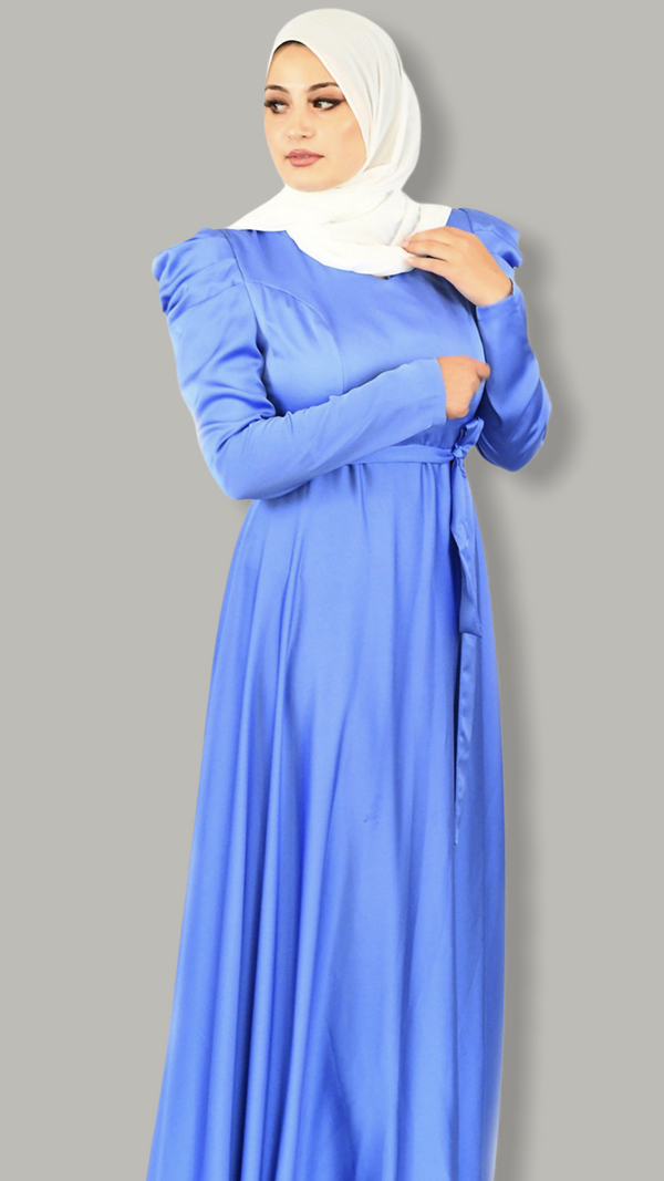Serenity Satin Dress - Cobalt Blue