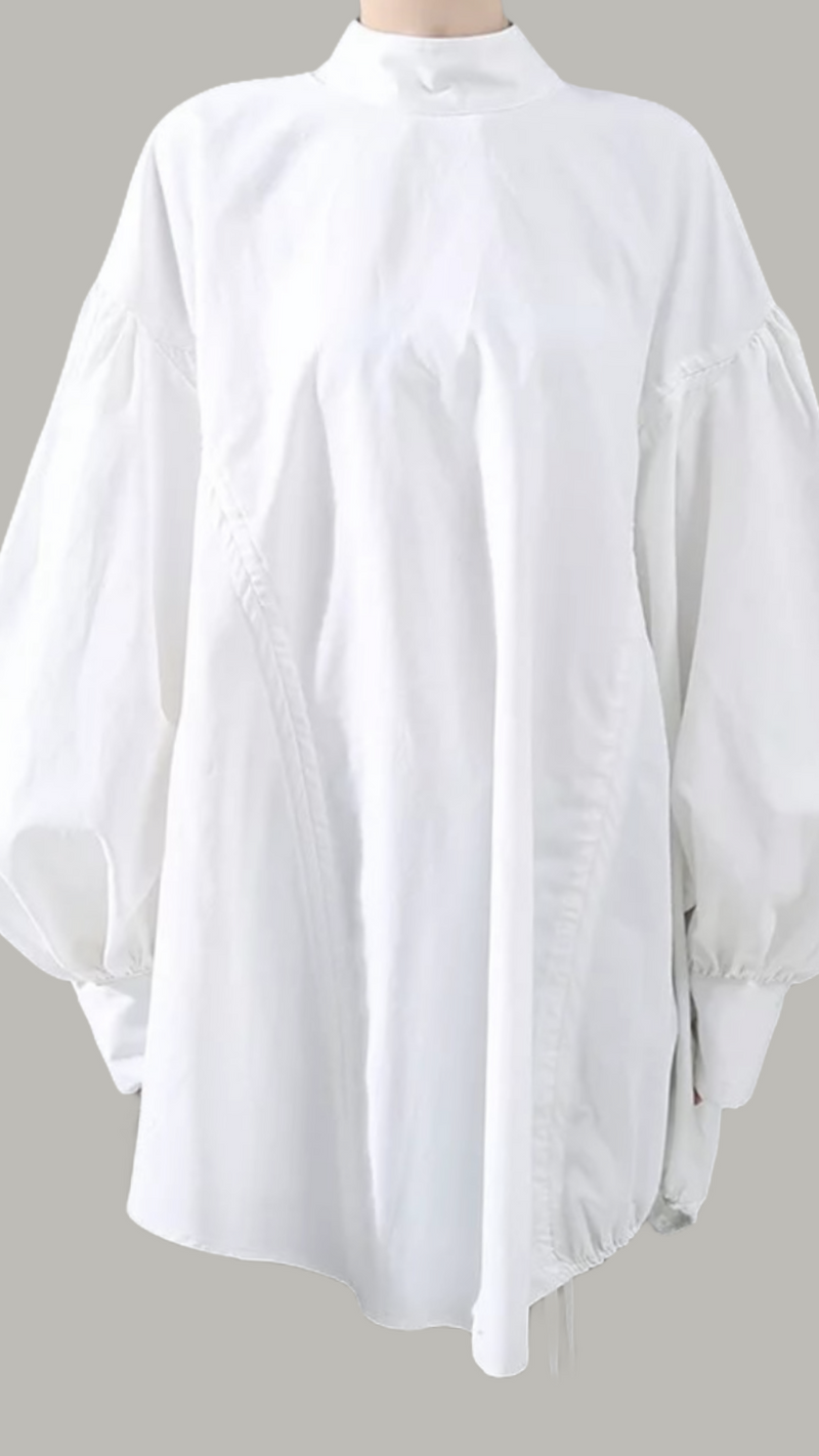 Oversize Blouse Transformer - White