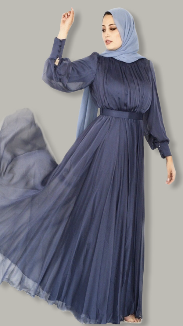 Majesty dress  - Indigo Blue