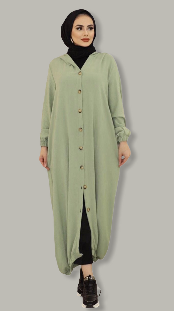 Maxi  Shirt Dress - Pistachio Green