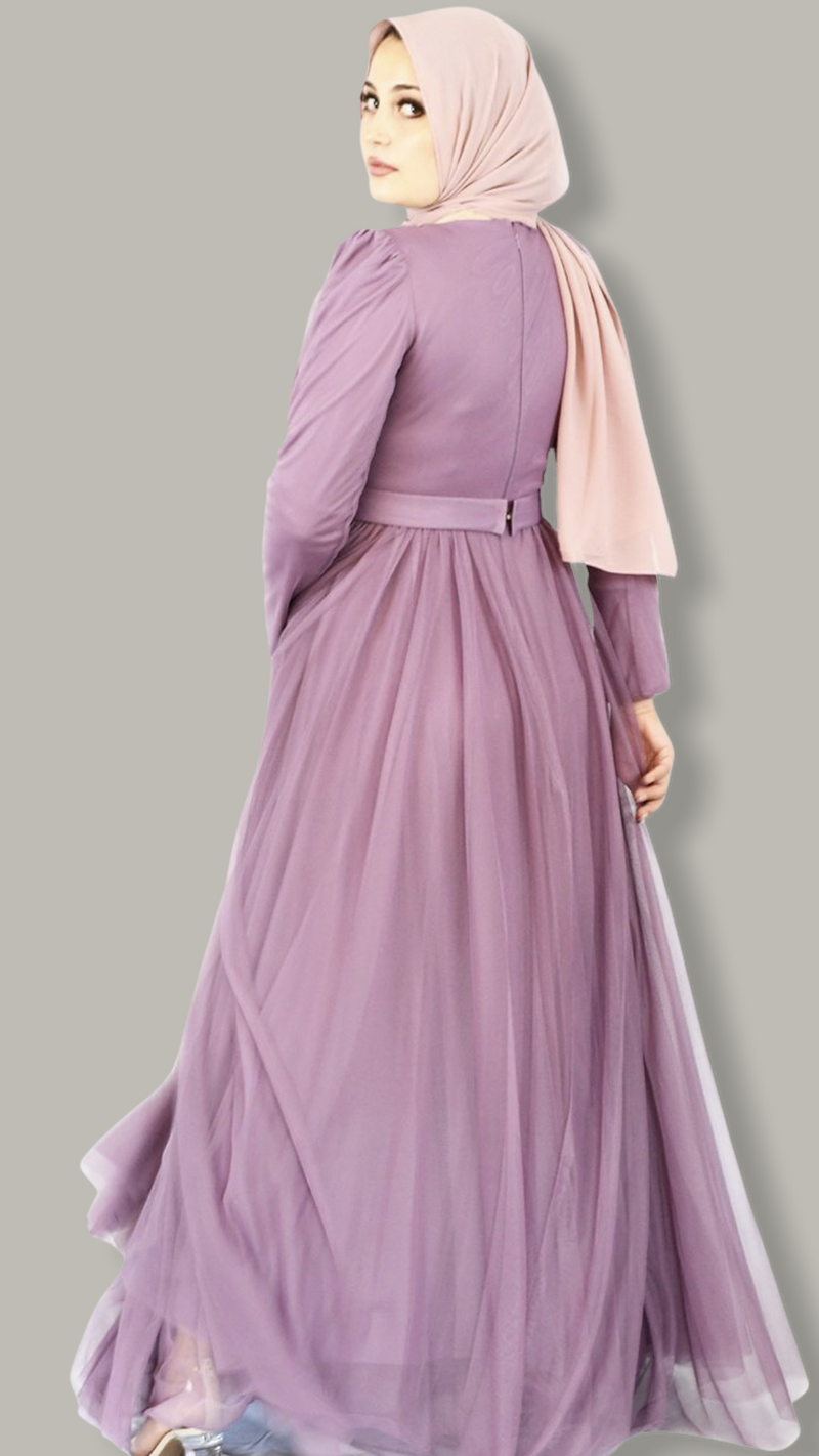 Forever Princess Tulle Dress - Mauve