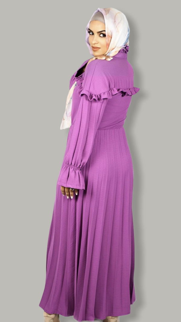 Whimsical Purple Maxi Dress