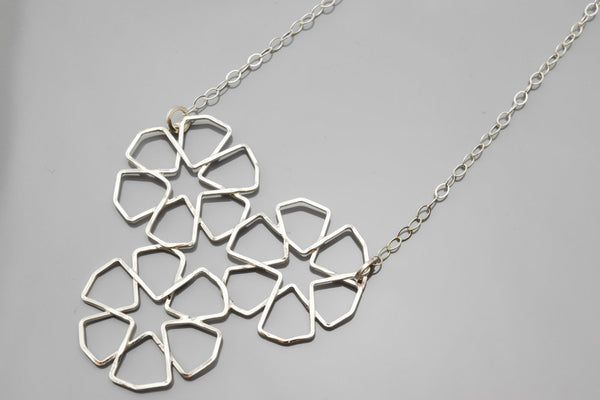 4-Flower Tessellation Necklace
