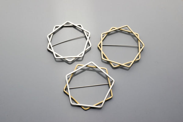 Decagram Brooch